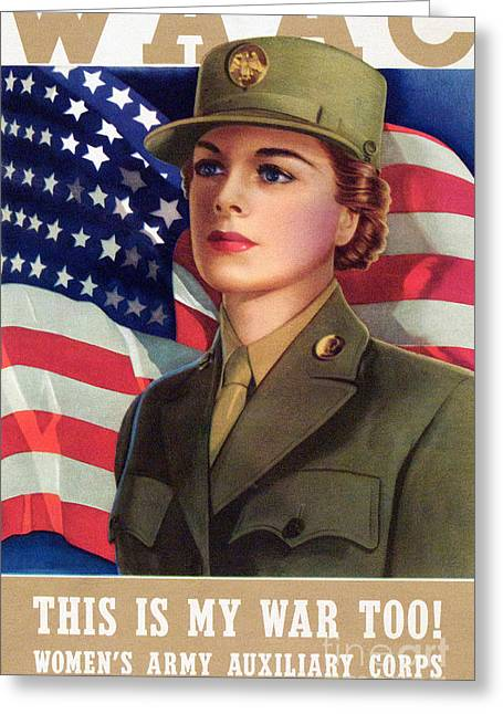 World War II Waac Poster This Is My War Too Greeting Card