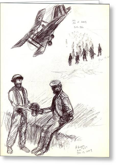 World War One Sketch No. 2 Greeting Card