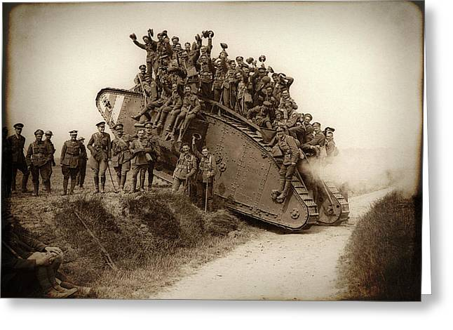 World War One Tank C. 1917 Greeting Card