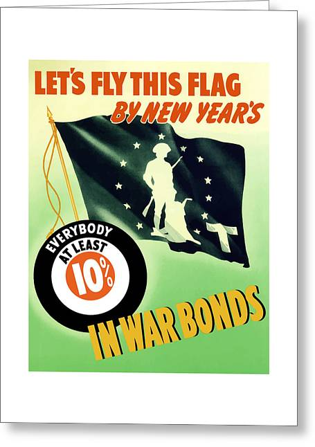 World War Two Minuteman Flag  Greeting Card