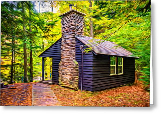 Worlds End Cabin - Paint Greeting Card by Steve Harrington