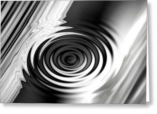 Wormhold Abstract Greeting Card