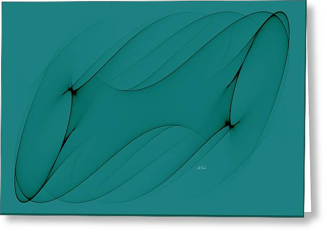 Wormhole In Turquoise  Greeting Card by Angela A Stanton