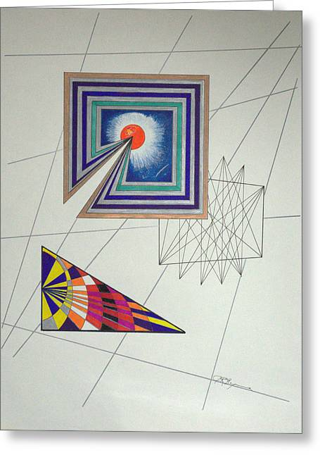 Wormholes Squared Greeting Card