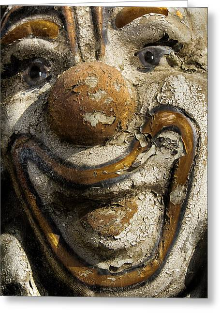 Worn Out Clown Greeting Card by Jean Noren