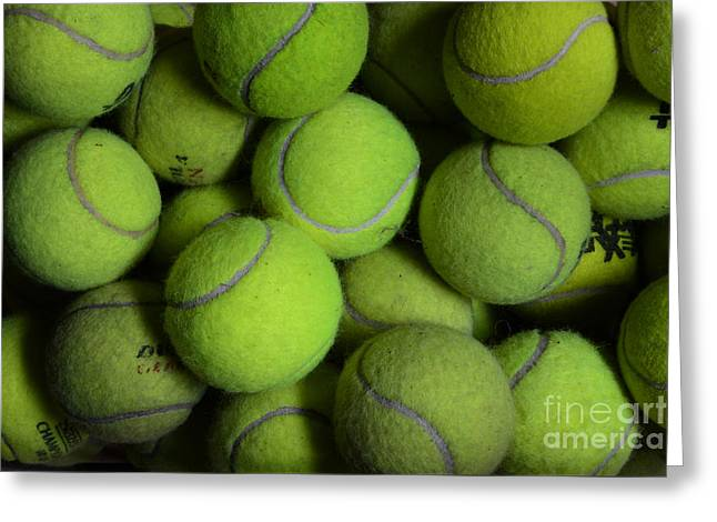 Worn Out Tennis Balls Greeting Card by Paul Ward