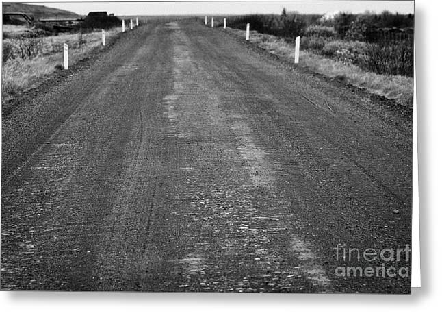 worn rural gravel road in Iceland Greeting Card by Joe Fox