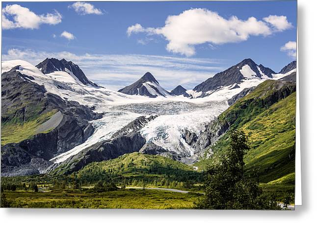 Greeting Card featuring the photograph Worthington Glacier by Claudia Abbott