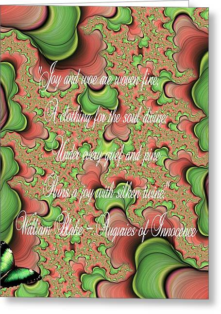 Woven Greeting Card by Lea Wiggins