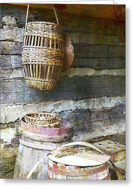 Woven Wood And Stone Greeting Card