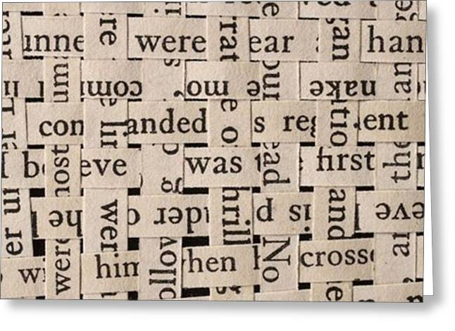 Woven Words By Edward M. Fielding - Greeting Card by Edward Fielding
