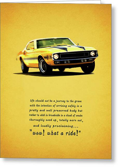 Wow What A Ride Greeting Card by Mark Rogan