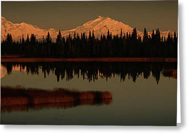 Wrangell Mountains At Sunset Greeting Card