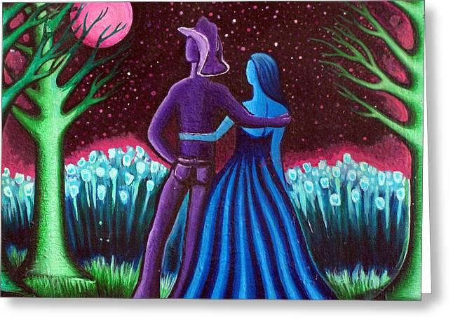 Wrangler's Moon Greeting Card by Brenda Higginson