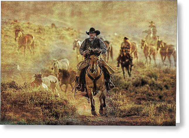 A Dusty Wyoming Wrangle Greeting Card
