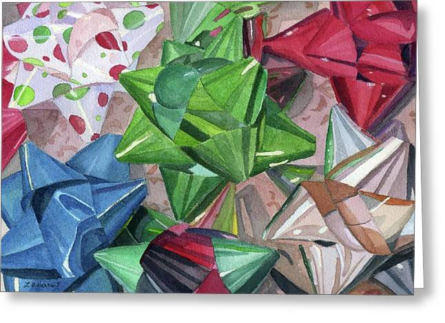 Greeting Card featuring the painting Wrap It Up by Lynne Reichhart