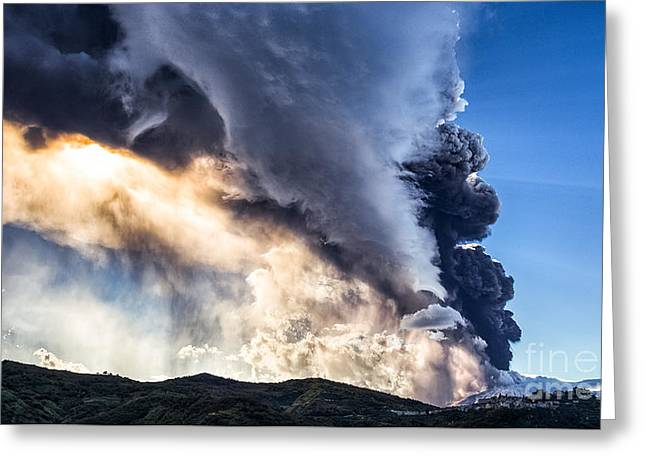Wrath Of Nature Greeting Card by Giuseppe Torre