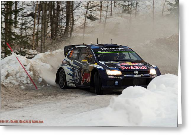 WRC Greeting Card by Daniel Gonzalez Aguilera