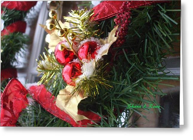 Greeting Card featuring the photograph Wreath by Shana Rowe Jackson