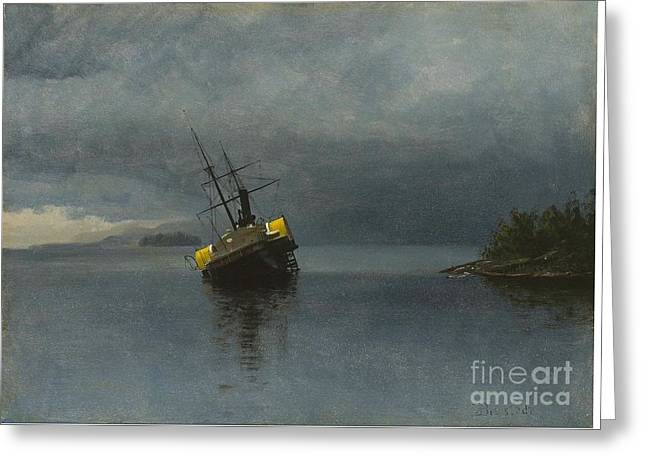 Wreck Of The Ancon Greeting Card