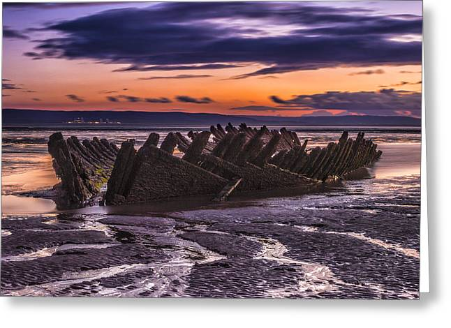 Wreck Greeting Card by William Hole
