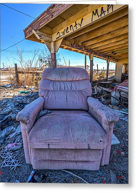 Wreckcliner 2 Greeting Card by Peter Tellone