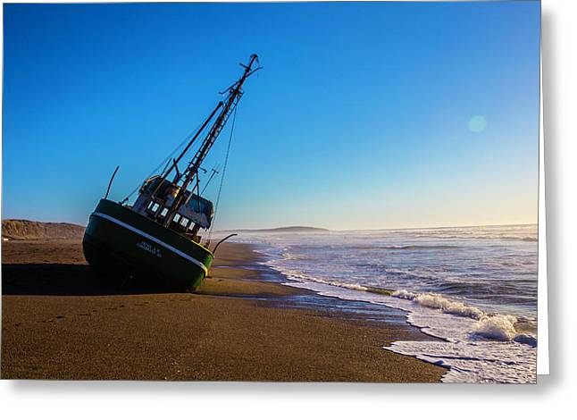 Wrecked Fishing Boat Greeting Card