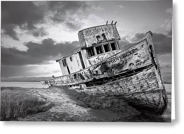 Wrecked In Point Reyes Greeting Card by Jon Glaser