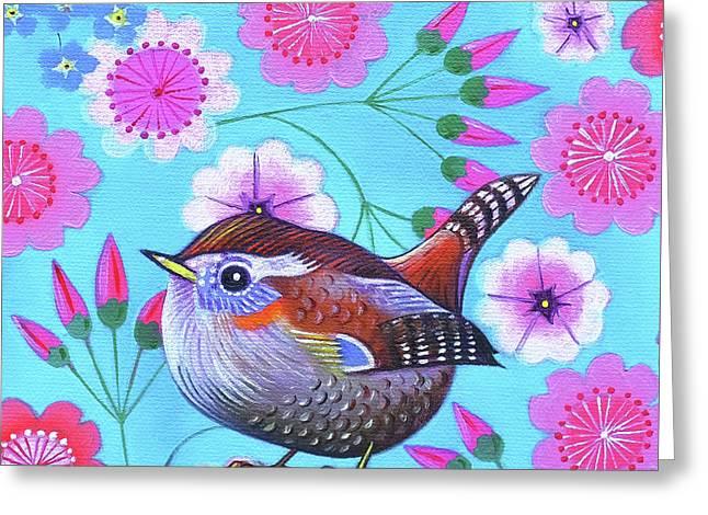 Wren Greeting Card by Jane Tattersfield