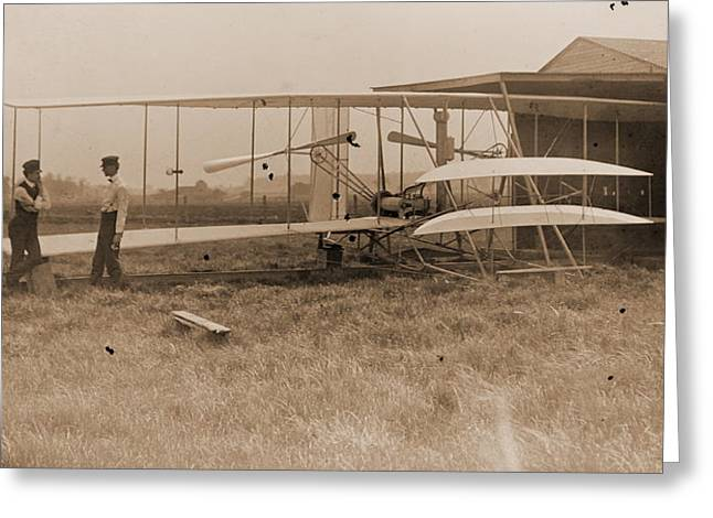 Padre Art Greeting Cards - Wright Brothers 2nd Powered Machine Greeting Card by Padre Art
