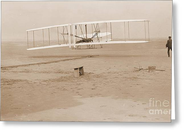 Wright Brothers First Powered Flight Greeting Card