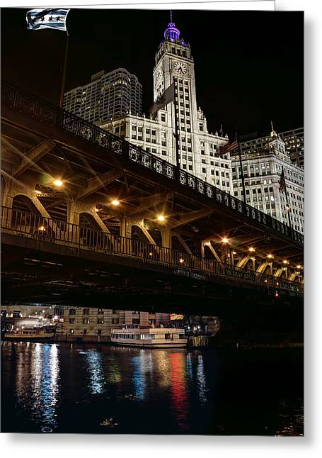 Wrigley Building And Dusable Bridge - Chicago Greeting Card