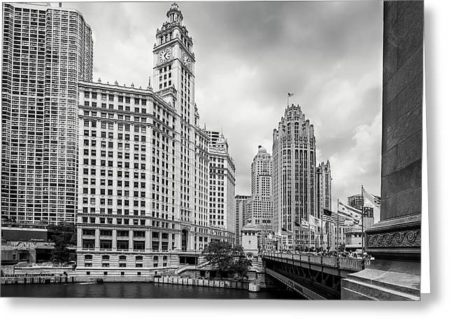 Wrigley Building Chicago Greeting Card by Adam Romanowicz