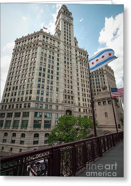Wrigley Building Greeting Card