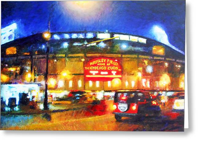 Wrigley Field Home Of Chicago Cubs Greeting Card by Michael Durst