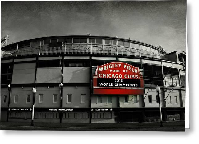 Wrigley Field Greeting Card