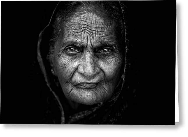 Wrinkles Greeting Card by Mohammed Baqer