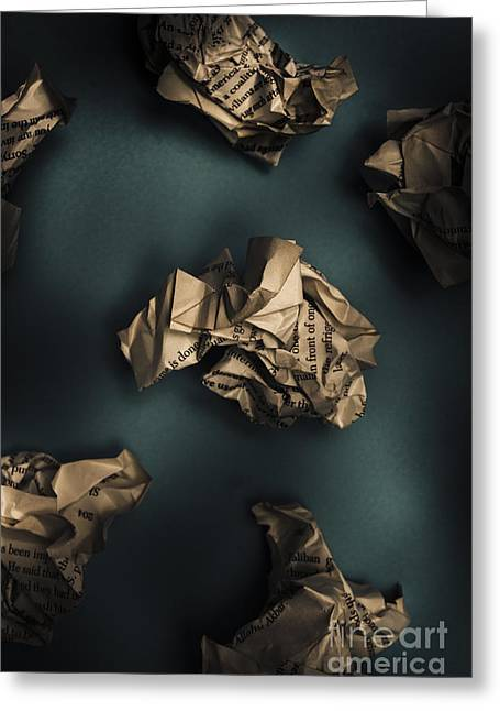 Writers Block Greeting Card by Jorgo Photography - Wall Art Gallery