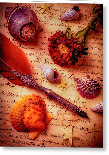 Writing Letter Still Life Greeting Card