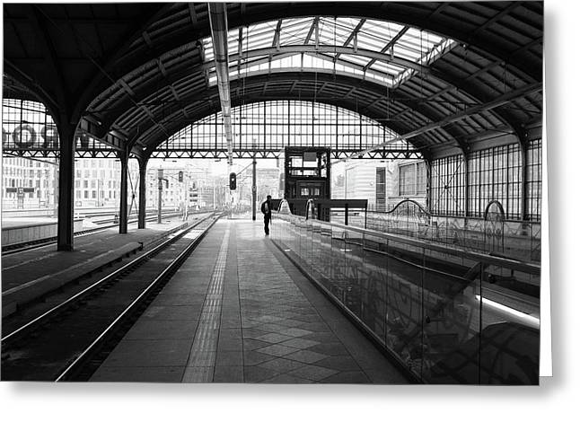 Greeting Card featuring the photograph Wroclaw Central Railways Station by Dubi Roman