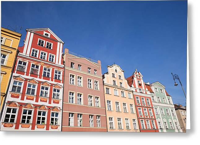 Wroclaw Old Town Houses Greeting Card by Artur Bogacki