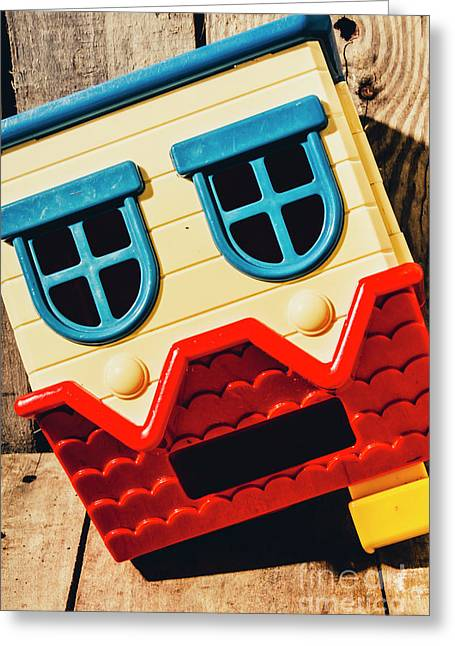 Wrong Way House Greeting Card by Jorgo Photography - Wall Art Gallery