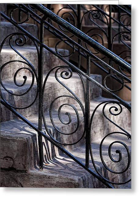 Wrought Iron Bannister  Greeting Card by Robert Ullmann