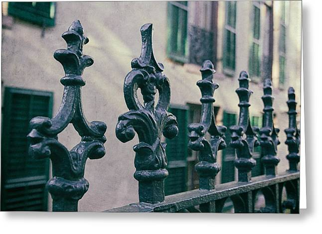 Wrought Iron Fence Greeting Card