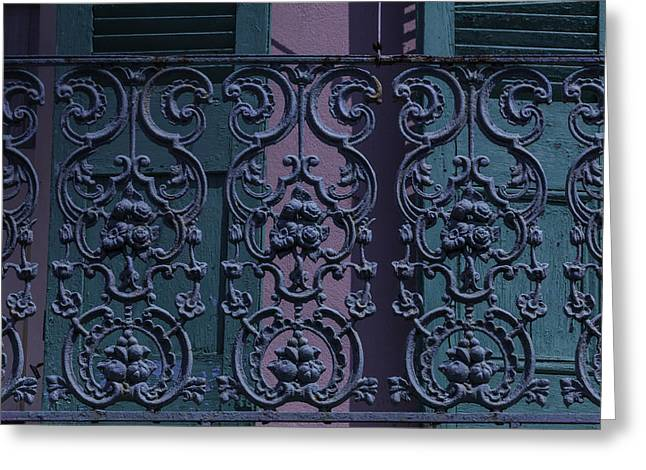 Wrought Iron Railings Greeting Card by Garry Gay
