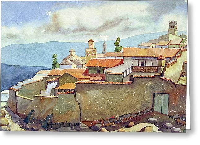 Ws1955bo001 Landscape Of Potosi 13.75x9.75 Greeting Card by Alfredo Da Silva