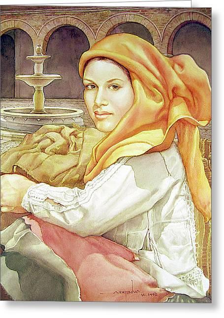 Ws1995dc005 Rosana 14.75x19.5 Greeting Card by Alfredo Da Silva