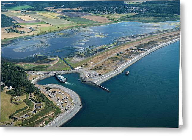 Wsf At The Coupeville Dock Greeting Card