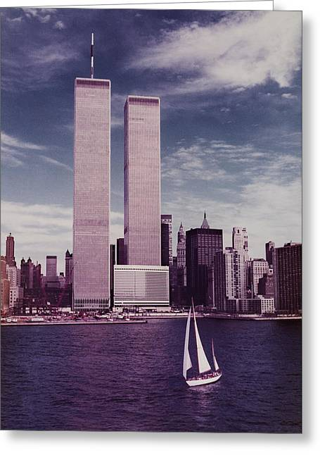 wtc Remembered Greeting Card by Laura Fasulo