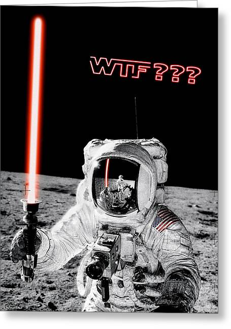 Wtf? Alan Bean Finds Lightsaber On The Moon Greeting Card